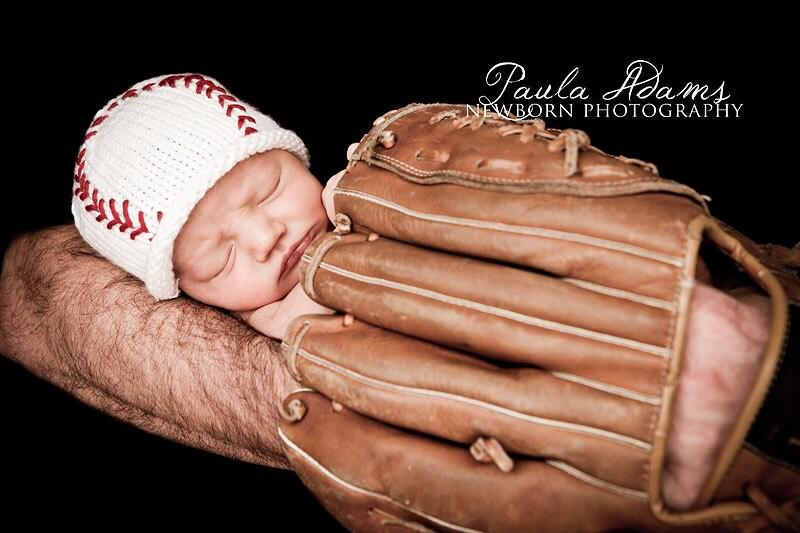 newborn baseball hat newborn photo propbaby hat white