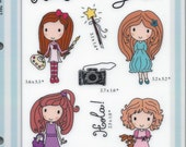 Sisters Girls Rubber stamps