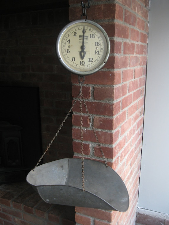 Vintage Hanging Scale Antique Produce Scale Double Sided