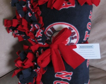 FREE SHIPPING MLB Boston Red Sox Baseball Blue Red White Custom Fleece Blanket Throw 60x72