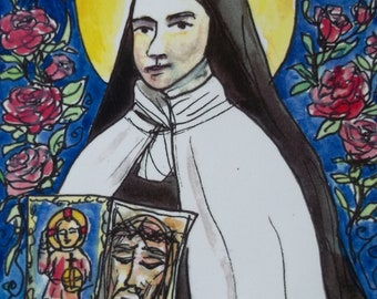 St. Therese of Lisisux The Little Flower prayer cards