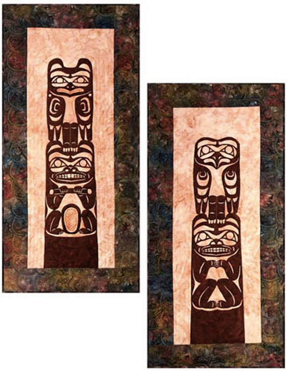 Totem Pole Quilt Pattern Quilts With A Twist Diy Raven Beaver