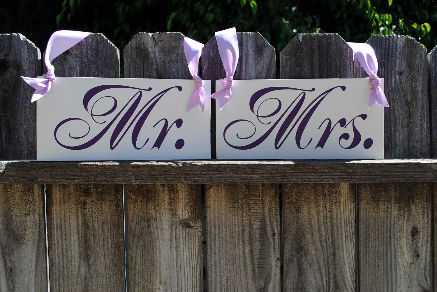 Mr And Mrs Chair Sign Wedding Chair Hangers By Signstoliveby