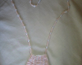 Pink Not-Knitted Amulet Bag