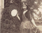 1915 Snap Shot of              Young Girl dressed in Gypsy costume