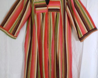 On sale BOHO CHIC 1970's Vintage Striped Kaftan/Caftan Size Medium
