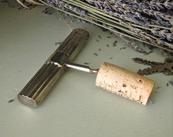 Vintage Silver Plate Cork Screw / Wine Opener / Silver Plate Wine Bottle Opener / Wedding Gift / Hostess Gift / Corkscrew