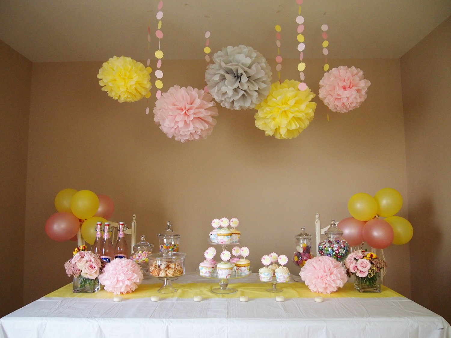 Pink lemonade diy party decoration package baby by for Baby shower modern decoration