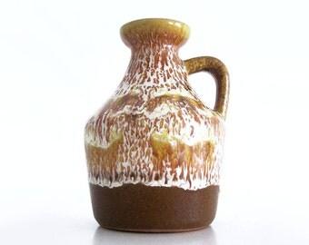 Vintage // Strehla Keramik // Jug vase // East German ceramic // East German pottery // East Germany // GDR