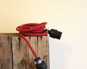 12' Extension Cord - Cloth Cord Vintage Replica in Red