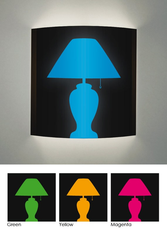 Wall Sconce Lamp Silhouette Design In Various Colors By