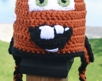 Tow Mater crocheted hat from Cars | I Made This | Pinterest | Tow ...