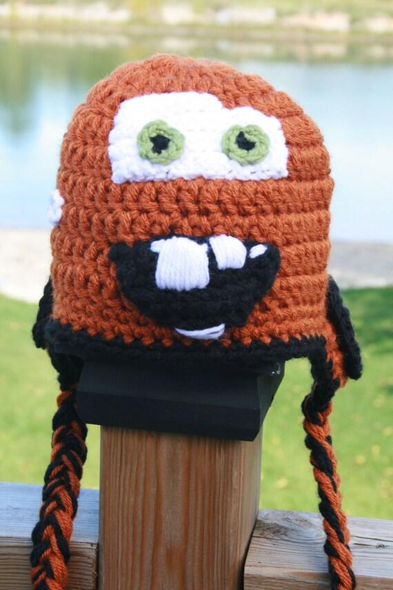 Tow Mater Hat Crochet Pattern Newborn by KidzLidzAndOtherDigz ...