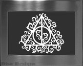 Harry Potter inspired Deathly Hallows Vine vinyl decal - Car decal - Macbook decal - Harry Potter decal - Deathly Hallows decal