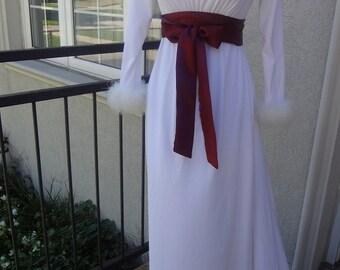 Burgundy Satin Sash belt Bridal