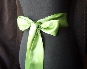 Satin Sash belt Lime/Apple Green Bridal