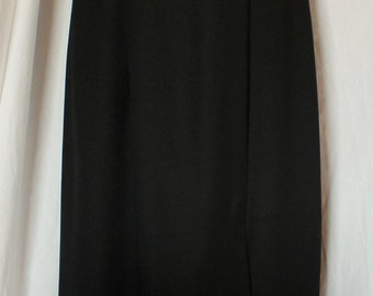 Vintage 90's Dave and Johnny White and Black Bridesmaid or Formal Gown Sz 10 Sleeveless
