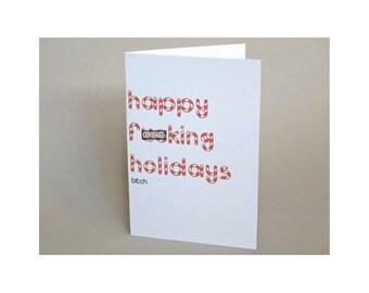 "Holiday Card, Funny Christmas Card - ""Happy Holidays B"""