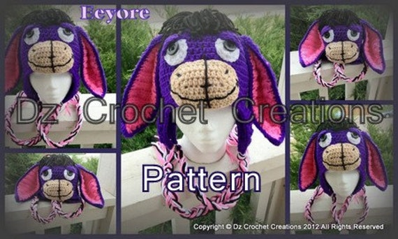PDF Eeyore Inspired Ear Flap Beanie