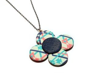Geometric Flower Pendant