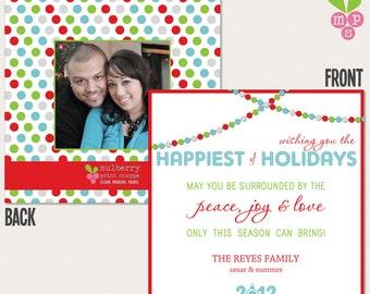 Bright Lights Holiday Card