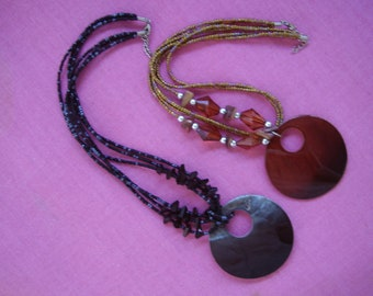Vintage Shell and Glass Bead Necklace