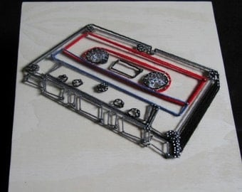 Cassette Tape Modern String Art