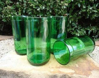 Pellegrino Bottle Drinking Glass Tumblers 16 oz Set of 4