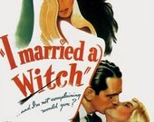 Vintage Movie Poster image Fridge Magnet I Married a Witch Veronica Lake