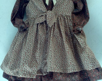 Fall calico dress girl's size 2