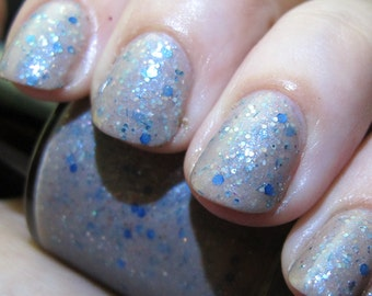 CLEARANCE Lady of Light Nail Polish - pale subtle duochrome with ethereal glitter