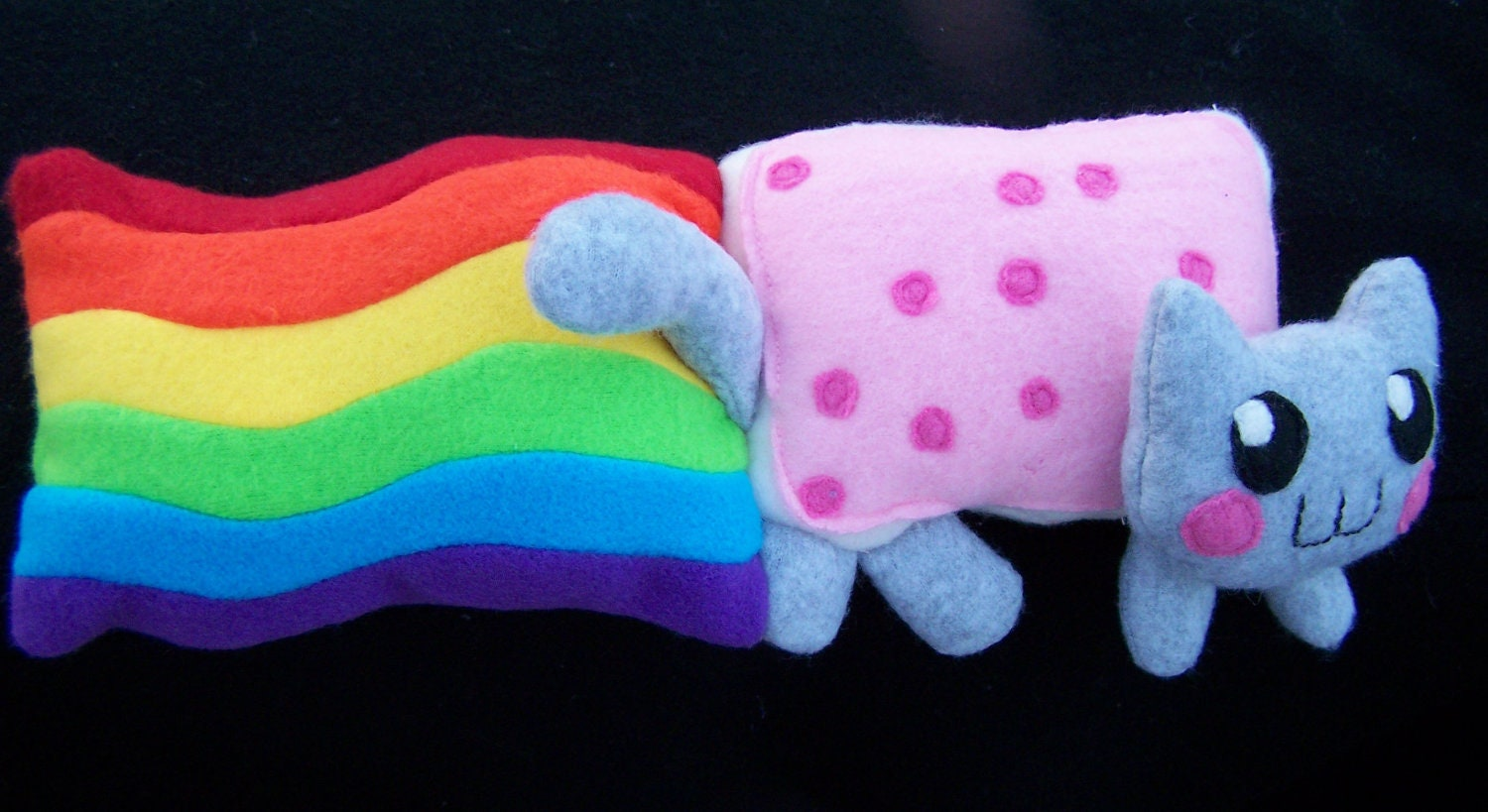 Nyan cat plush toy by ironorchidcreations on etsy
