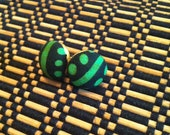 African print ladybug stud