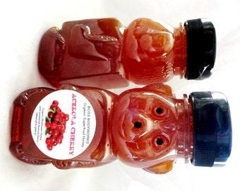 Organic ACEROLA CHERRY Superfruit Honey - 12oz - herbal infused raw wildflower Non-GMO, Malpighia glabra
