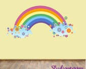 Reusable Rainbow Wall Decal - Childrens Fabric  Wall Decal - extra large