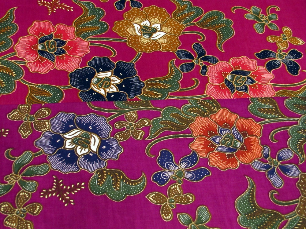 Cotton Print Fabric Two Sheet Offer Indonesian Batik With