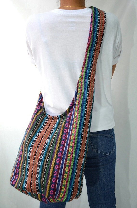nepali hippie hobo boho sling messenger bag cross by