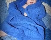 Plush Royal Blue Hooded Baby/Child Towel
