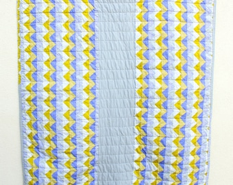 Pieced Gray Stripe Quilt: Generous Crib Size for a Boy or Girl. Perfect for Tummy Time.