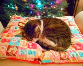 Kittys Pillow Bed- Large with Super Soft Minky