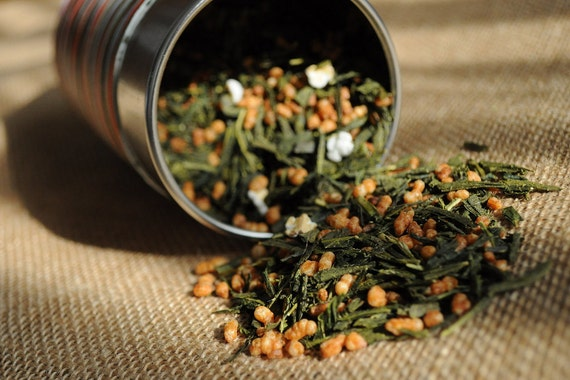Green Tea - Genmaicha - Japanese Popcorn Tea Premium Level NET 1.1 Oz / 30 grams