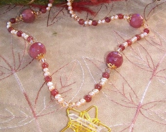 Celestial Heather Beaded Necklace