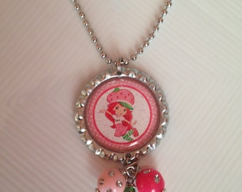 Strawberry Shortcake Bottlecap Necklace