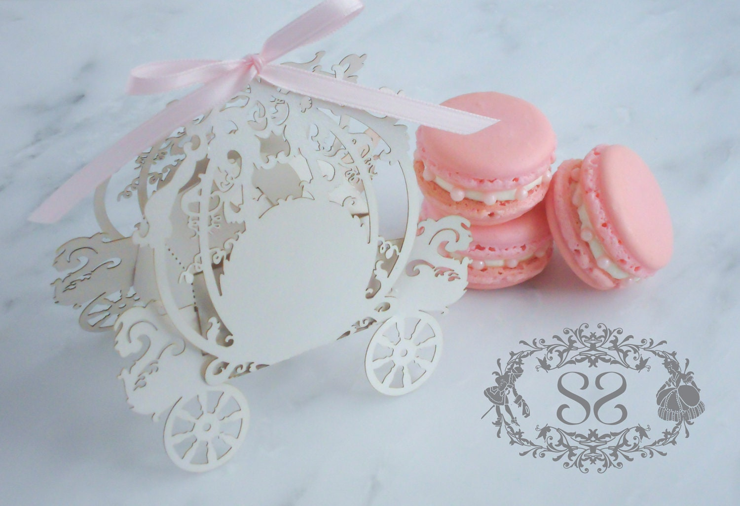 Wedding Favors Macaron Favor Princess Wedding Cinderella