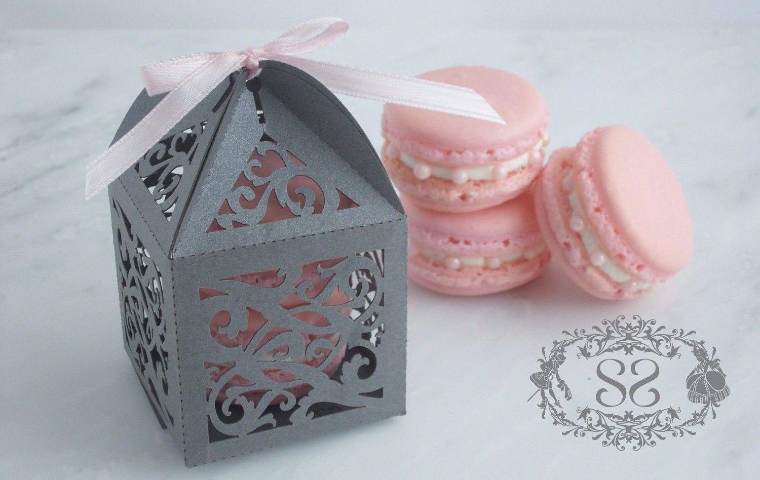 Wedding Favors French Macaron Favor Opulent Wedding Ornate