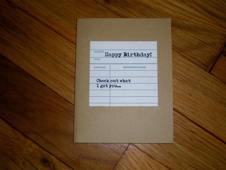 LibraryThemed Gift Card Holder Birthday Card Bookish Gift – Themed Birthday Cards