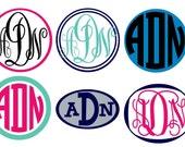 2inch Monogram Sticker 2-Color Vinyl Decal