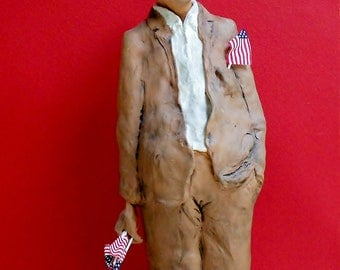 The Pledge: One of a Kind Handmade Terra Cotta and Stoneware Sculpture
