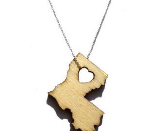 Louisiana States of Love Necklace LA state jewelry