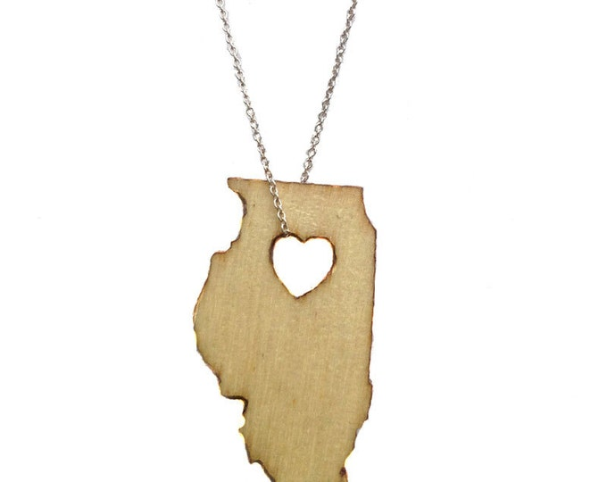 Illinois Necklace States of Love State Jewelry